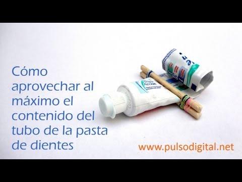 Cómo aprovechar al máximo el contenido del tubo de la pasta de dientes