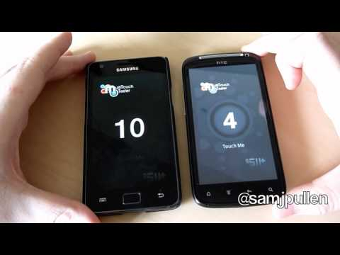 Samsung Galaxy S2 vs HTC Sensation - Multi-Touch Test