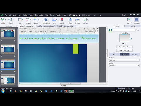 Creating a Software Simulation with Adobe Captivate 8