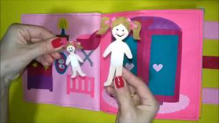 Quiet book doll house and more