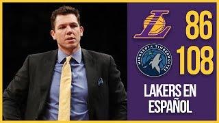 Los Angeles Lakers vs Minnesota Timberwolves   Lakers necesitan Lebron James   Los Lakers en Español