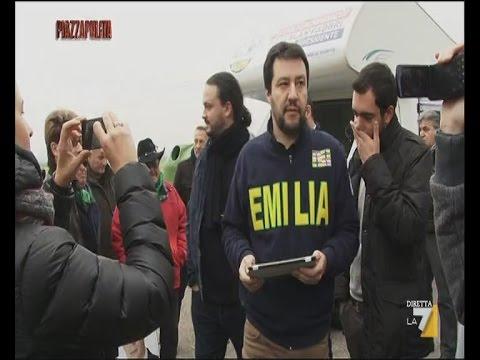 Matteo Salvini in Emilia Romagna [Piazzapulita, 24/11/2014]