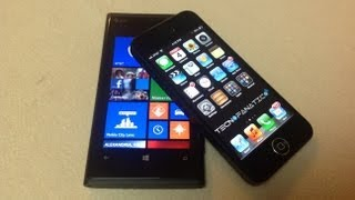 Nokia Lumia 920 versus iPhone 5 comparativas