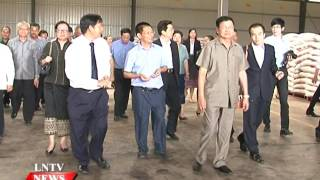 Lao NEWS on LNTV: PM  Thongloun and his delegation tour Saysettha development zone.16/5/2016