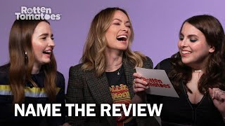"""Olivia Wilde & the 'Booksmart' Cast Play """"Name the Review"""" 