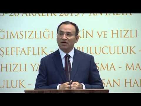 Adalet Bakanı Bekir Bozdağ - Yargı Teşkilatı Toplantısı Konuşması 1