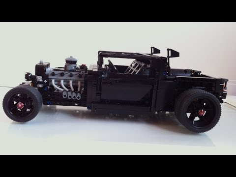 Motorized LEGO pick-up hot rod MOC