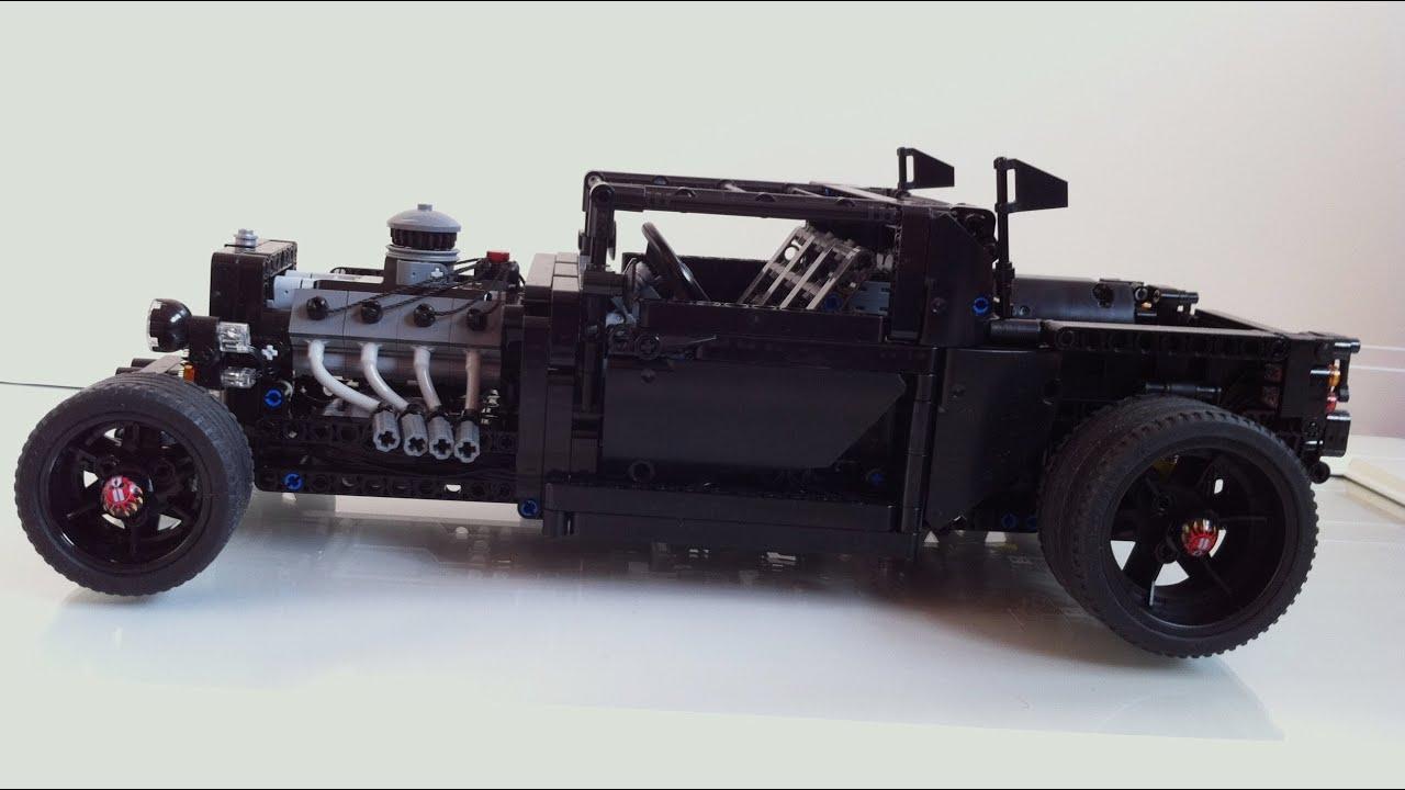 Motorized Lego Pick Up Hot Rod Moc Youtube