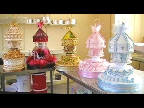 CAKE DECORATING ROYAL ICING CAROUSEL CHRISTENING CAKES