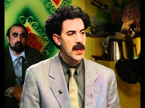 Borat (Sacha Baron Cohen) interview part 2