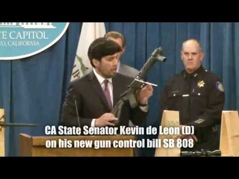 Anti-Gun Senator Kevin De Leon Makes a Fool of Himself