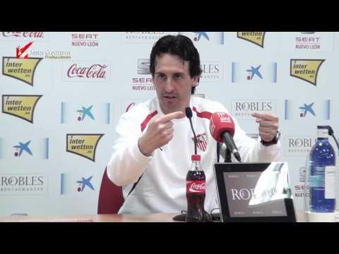 Rueda de Prensa Pre-Copa Sevilla FC - Real Zaragoza (Unai Emery) JC