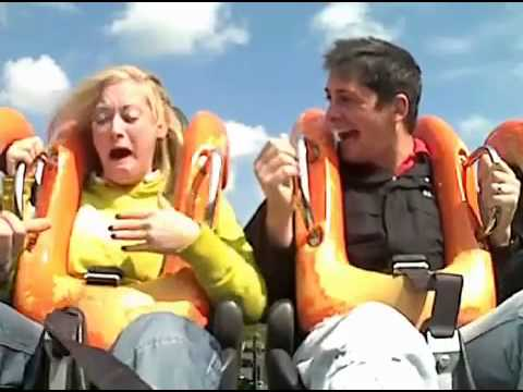 Girls Seat Belt Fails On Oblivion Rollercoaster At Alton To video