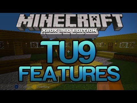 Minecraft Xbox 360 - NEW TU9 Update Features! - Coloured Wood, Item Frames, Herobrine..