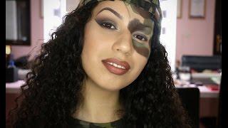 Army Girl   Halloween Fancy dress makeup   Christineocmua