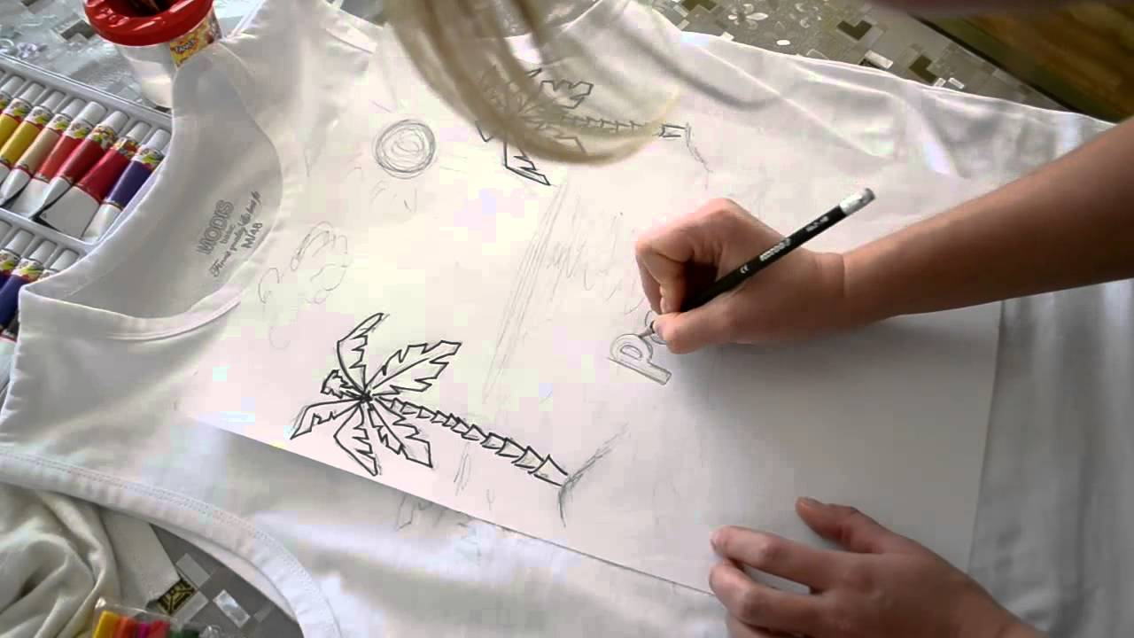 Рисунки на футболках в домашних условиях 97