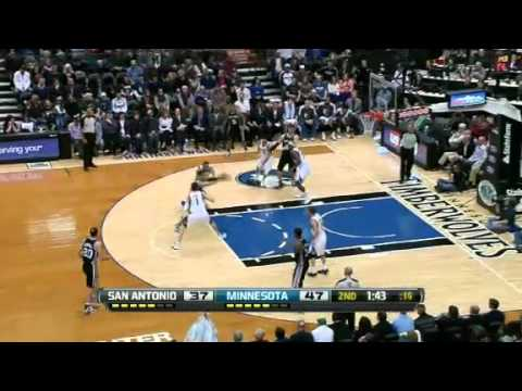 NBA CIRCLE - San Antonio Spurs Vs Minnesota Timberwolves Highlights 12 March 2013 www.nbacircle.com