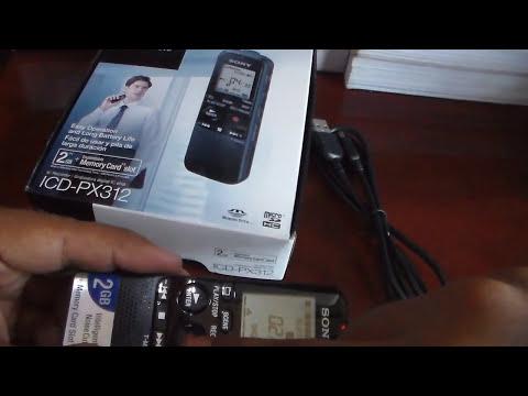 Gravador Sony PX312 para Vlogs e Vídeo Aulas