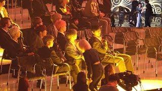 190424 BTS Reaction to ChungHa (청하 무대보는 방탄소년단) 4K 직캠 by 비몽