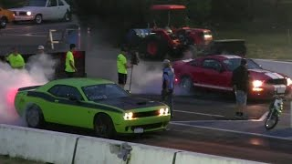 Revenge- Hellcat vs Shelby GT 500 drag race 1/4 mile