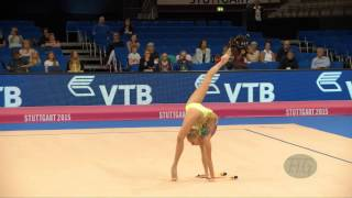 Yana KUDRYAVTSEVA (RUS) 2015 Rhythmic Worlds Stuttgart - Qualifications Clubs