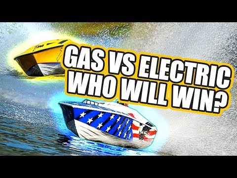 Exceed Racing Eagle Gas Powered vs Fiberglass Performance Electric Racing Boats