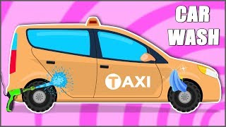 Taxi Car Wash Videos For Kids And Baby   Children cars video