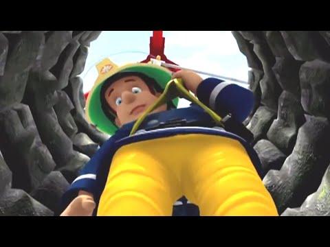 Sam el Bombero Español 🌟Bajando por el pozo   Compilación divertida 🔥Dibujos animados
