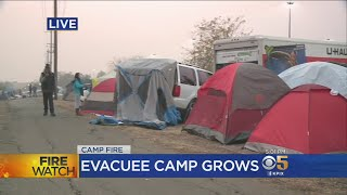 Humanitarian Crisis Looms At Growing Makeshift Evacuee Camp In Chico