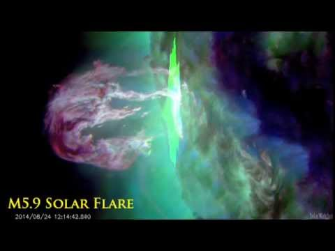 Eruptive M5.9 Solar Flare - August 24, 2014