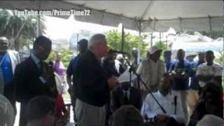 Miami Mayor Tomas Regalado In Haiti