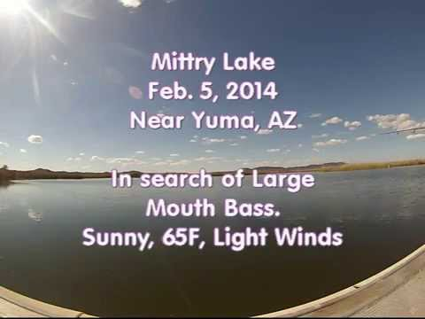 Mittry Lake near Yuma, AZ. Fishing for Bass.