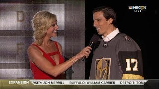 Fleury gets drafted by the Las Vegas Golden Knights   NHL Expansion Draft 2017   (HD)
