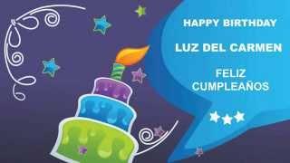 Luz del Carmen   Card Tarjeta - Happy Birthday