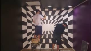חדר בריחה גיבורים - ציורי קיר