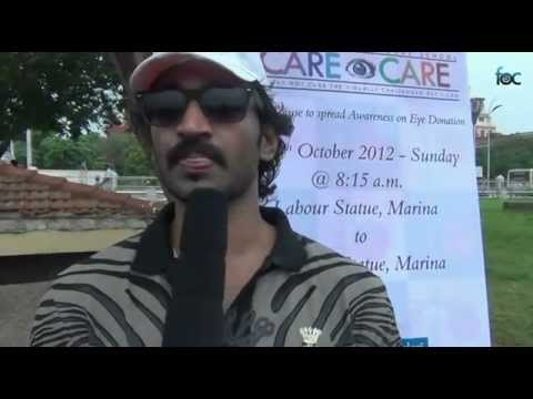 Actor Adhi & Raihanah MARCH FOR SIGHT I CARE FOR EYE CARE Walkathon for a Cause