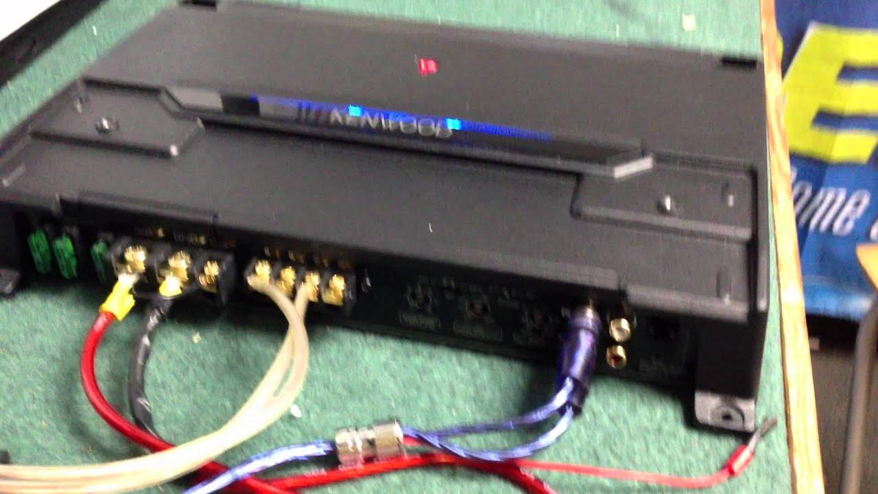 kenwood kac 9105d mono amp youtube