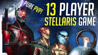 13 Player PVP Stellaris Session - No A.I. - Colossus Weapons Used!