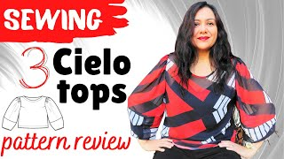 """Cielo Top (Closet Case Patterns).  3 tops! Different views.  Conversion to Sleeveless """"how to""""."""