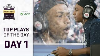 Madden 17 Best Plays of Day 1 | Madden Challenge 2017 - Feat. QJB