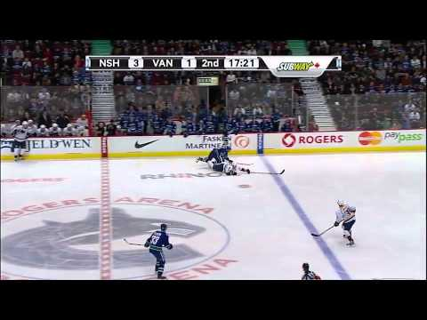Vancouver Canucks vs Nashville Predators Highlights 12/1/11
