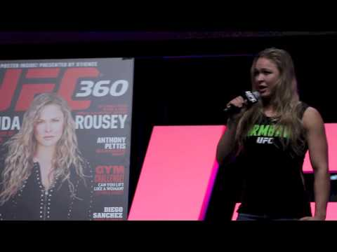 Ronda Rousey UFC 2013 Expo Cyborg