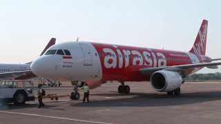 Air Asia PK-AXY Ready for takeoff at Adisucipto Airport in Jogjakarta