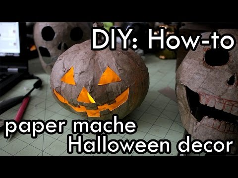 Diy how to make paper mache halloween decor youtube for Halloween decorations u can make