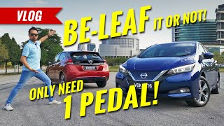 Driving with only 1 pedal in the Nissan Leaf electric car! - AutoBuzz.my