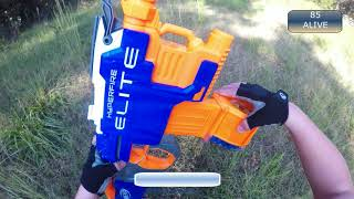Nerf War Game! PUBG in real life! (NERF) Pt. 1