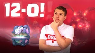 12-0! Mini Collection Tournament + Legendary Chest Opening - Clash Royale