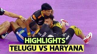 Pro Kabaddi 2019 Highlights(Hindi): Telugu Titans vs Haryana Steelers   Sports Tak