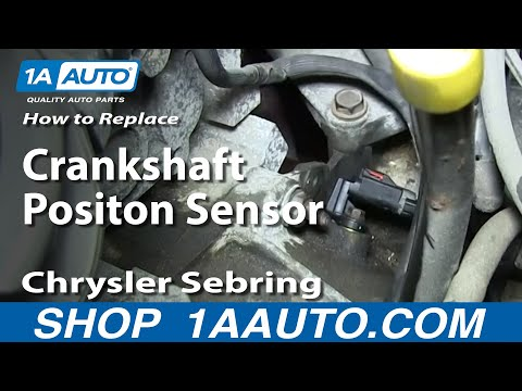 How To Install Engine Crankshaft Positon Sensor 2.7L 2001-06 Chrysler Sebring Dodge Stratus More