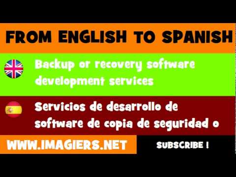 FROM ENGLISH TO SPANISH = Backup or recovery software development services